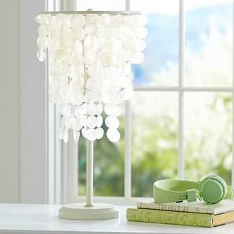 Pottery Barn Teen Capiz Table Lamp, White