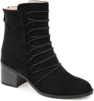 58a97aaebce0 Journee Collection Black Faux Suede Women s Boots - ShopStyle