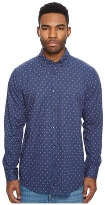Ben Sherman Long Sleeve Two-Tone Floral Print Shirt Men's Long Sleeve Button Up