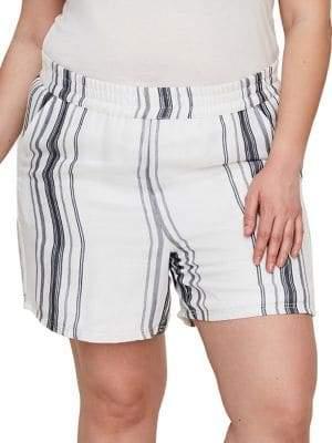 Junarose Plus 318 Manina Striped Shorts