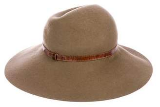Eric Javits Wool Leather-Trimmed Hat