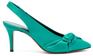 Isabel Marant Pansee Satin Pumps - Womens - Green