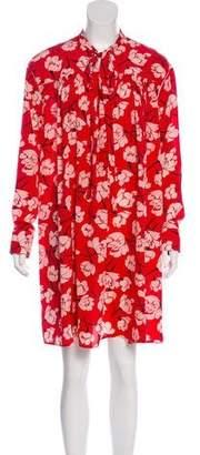 Rochas Floral Knee-Length Dress