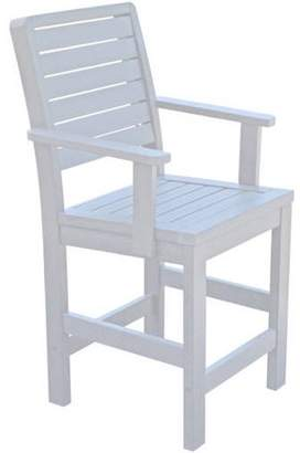 highwood® highwood Eco-Friendly Recycled Plastic Weatherly Counter Armchair
