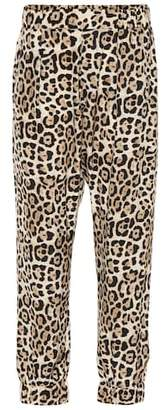 ATM Anthony Thomas Melillo Leopard printed silk pants