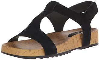 ba5b6140794 Clarks Black Platform Wedge Women s Sandals - ShopStyle