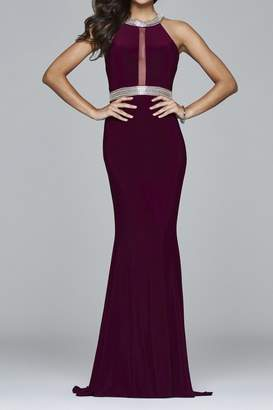 Faviana Timeless Bordeaux Gown