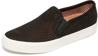 Frye Camille Perforated Slip On Sneakers $178 thestylecure.com