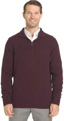 Van Heusen Big & Tall Regular-Fit Textured Quarter-Zip Pullover Sweater
