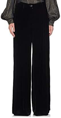 Nili Lotan Women's Inez Velvet Wide-Leg Trousers