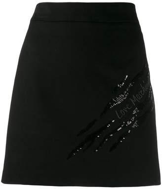 Love Moschino embroidered logo skirt