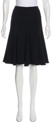 Givenchy Flared Wool Skirt