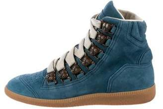 Maison Margiela Suede High-Top Sneakers
