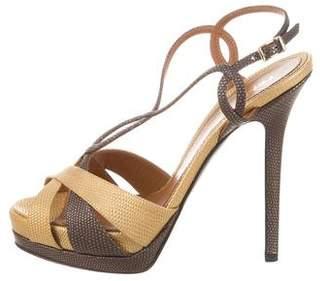 Fendi Metallic Platform Sandals w/ Tags