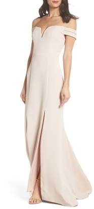 Xscape Evenings Off the Shoulder Trumpet Gown