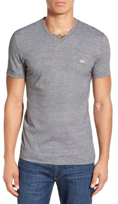 Men's Lacoste Stripe V-Neck T-Shirt $70 thestylecure.com