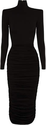 Alex Perry Fallon Ruched Jersey Midi Dress