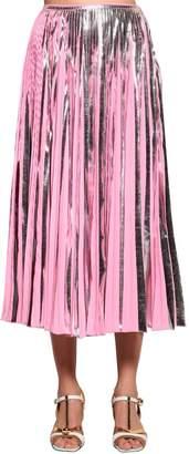 Marni Pleated Metallic Lamé Skirt