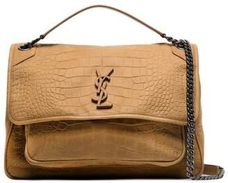 Saint Laurent brown Monogram Niki leather shoulder bag