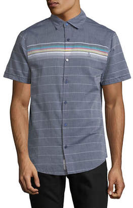 Original Penguin Slim Fit Engineered Stripe Short-Sleeve Cotton Sport Shirt