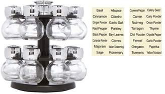 16 Glass Jar Revolving Carousel Spice Rack by Trademark Innovations