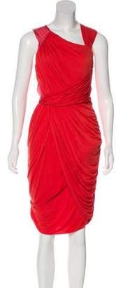 Fendi Ruched Sleeveless Dress