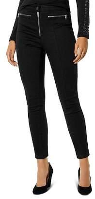 Karen Millen Biker Skinny Jeans in Black