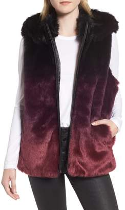 HEURUEH Ryan Ombre Faux Fur Hooded Vest