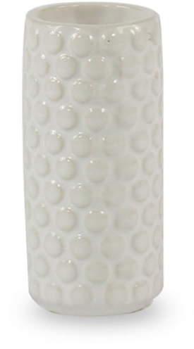 Bloomingville - Keramik-Vase, H9 cm, Weiß