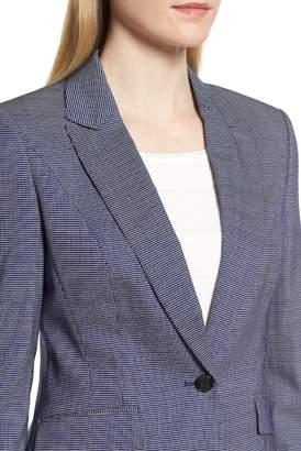 BOSS Janora Minidessin Wool Blend Jacket