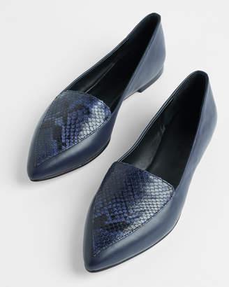 Jigsaw Calli Snake Embossed Flat Shoe