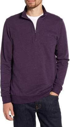 Criquet Regular Fit Quarter Zip Fleece Pullover