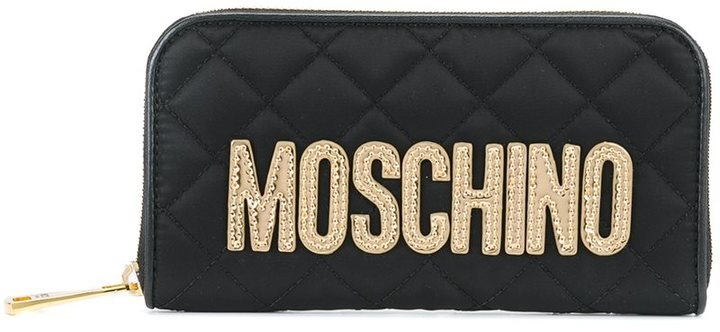 Moschino Moschino quilted fabric wallet