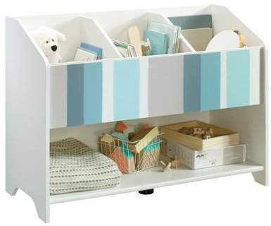 Better Homes & Gardens Cartwheel Bookcase/Footboard, White Finish with Stripes