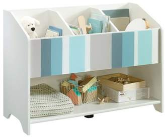 At Walmart Better Homes Gardens Cartwheel Bookcase Footboard White Finish With Stripes