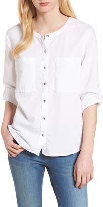 Caslon Linen & Cotton Long Sleeve Top