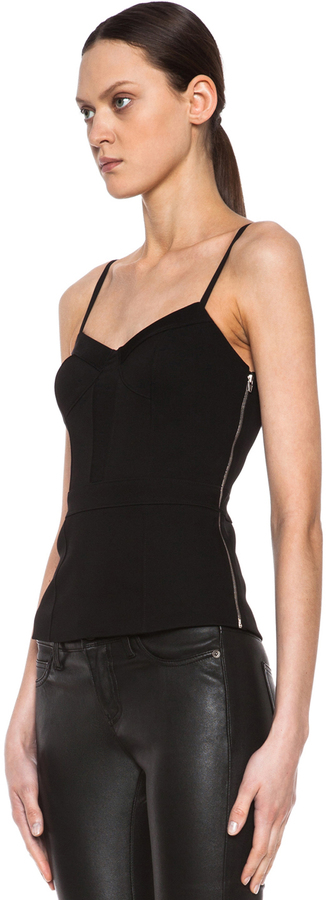 Alexander Wang Bustier Triacetate-Blend Camisole with Mesh