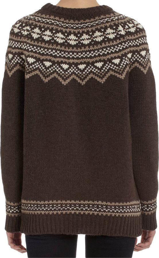 Barneys New York Traditional Pullover Ski Sweater