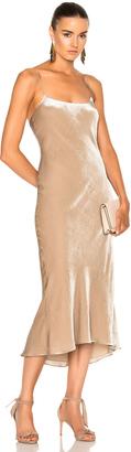 Tibi Velvet Bias Dress