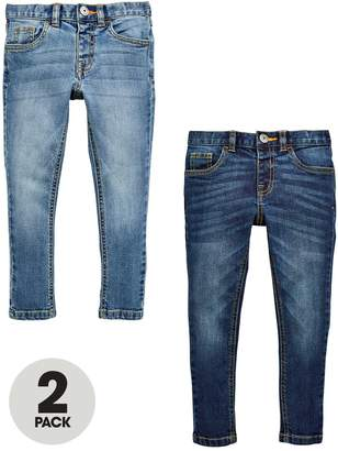 Mini V by Very Mini V by Very2 Pack Skinny Jean - Mid Wash and Light Wash