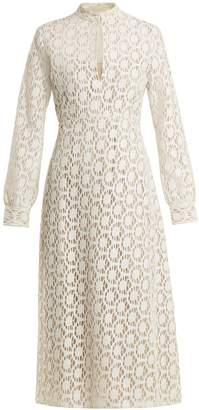 BY. BONNIE YOUNG Long-sleeved cotton-blend lace dress