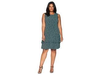 MICHAEL Michael Kors Size Leopard Sleeveless Flounce Dress