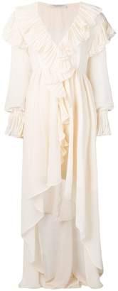 Philosophy di Lorenzo Serafini ruffle trim maxi dress