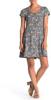 Band of Gypsies Floral Short Sleeve Dress