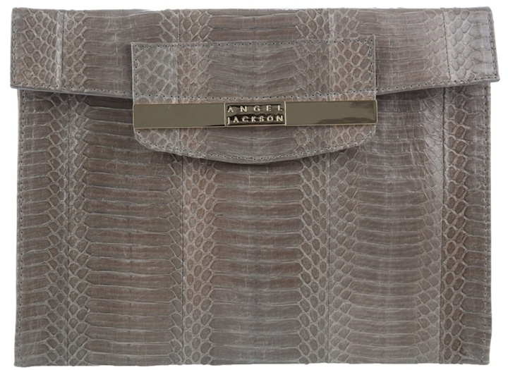 ANGEL JACKSON - Snakeskin envelope clutch
