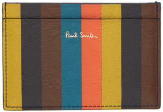 Paul Smith Multicolor Striped Card Holder