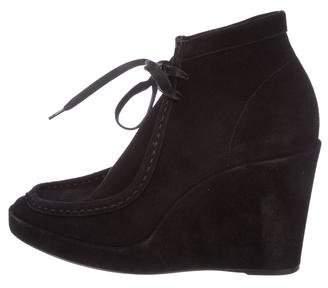 Balenciaga Suede Wedge Boots