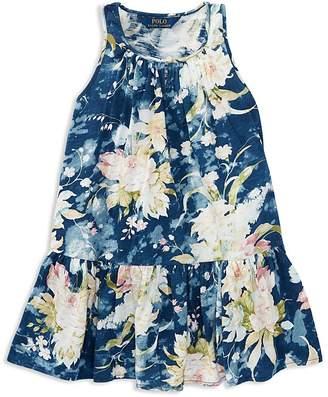 Polo Ralph Lauren Girls' Floral Drop-Waist Dress - Little Kid