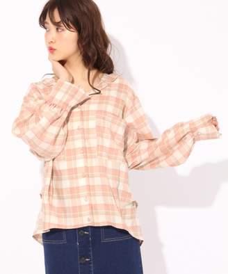 Heather (ヘザー) - ボリュームソデチェックシャツ