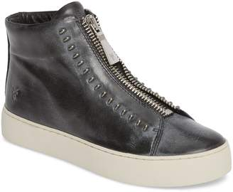 Frye Lena Rebel Zip High Top Sneaker
